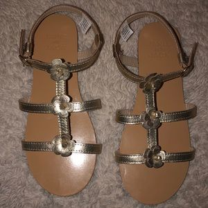 Janie and Jack Gold Sandals